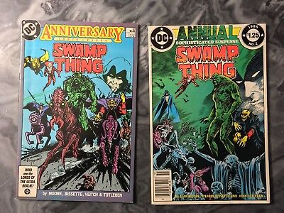Swamp Thing 50 And Annual 1 - 1st Justice League Dark - Alan Moore F+/VF