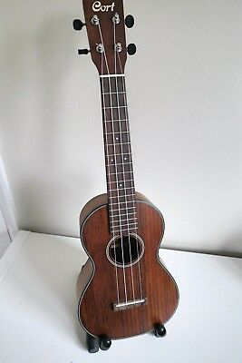 Cort Concert Sized All Solid Ukulele BWC-OP (Open Pore) with FREE Gig Bag