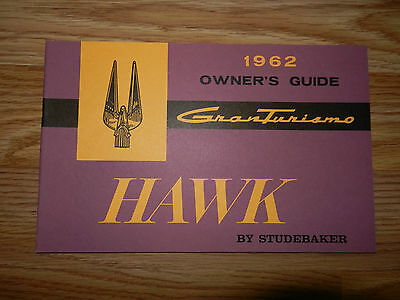 ORIGINAL NOS 1962 STUDEBAKER HAWK Gran Turismo Owners Manual Guide Book NICE