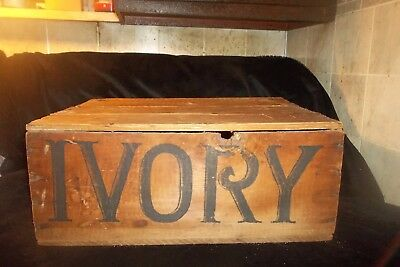 Vintage Advertising Ivory Soap Wood Box/crate Procter & Gamble's Trade Mark