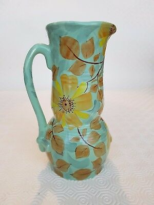 Beswick Art Deco Handcraft Green Jug Vase Numbered 616