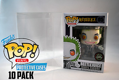 """10 Pack Funko Pop! Protector Cases For 4"""" Vinyl Figures Crystal Clear ACID FREE"""