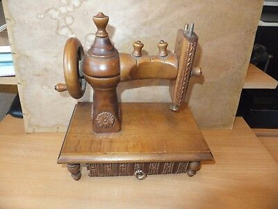 Vintage Style Old Wooden Sewing Machine With Drawer Ornament