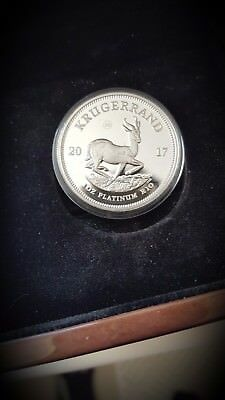 2017 South Africa 1 oz Platinum Krugerrand Proof w COA  OG BOX