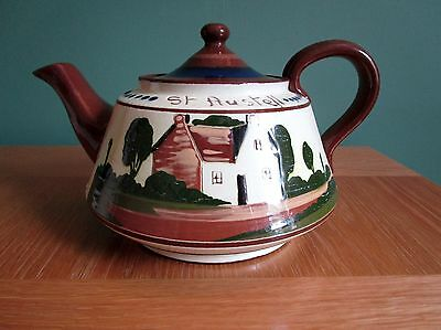 Interesting Torquay Ware Teapot (St.Austell) with Motto. Good condition