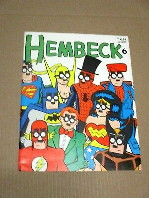 Hembeck # 6 Vf Fanzine Comic Fanta Co
