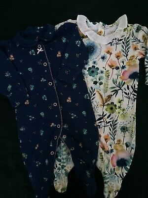 Baby girl bundle 0-3 Next baby grows / sleep suits / newborn 2 items