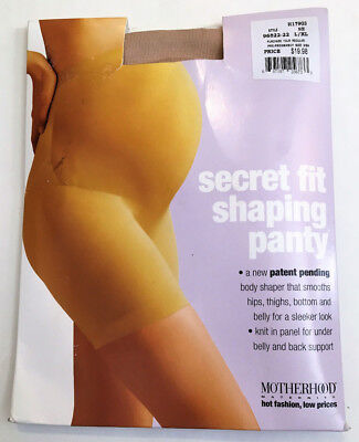 Motherhood Maternity Secret Fit Shaping Panty, Tan/Beige L/XL MSRP $19.98