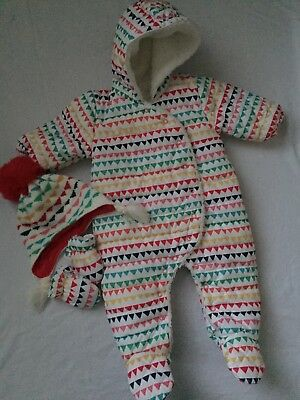 NEXT Baby Pramsuit 3-6 months / winter bundle / all-in-one / snowsuit