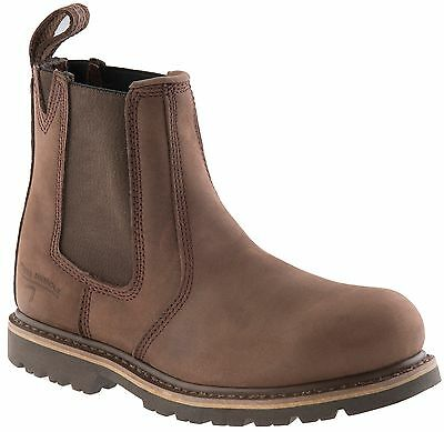 Buckler B1150SM Buckflex Safety Work Men's Dealer Boots Chocolate (Sizes 4-13)