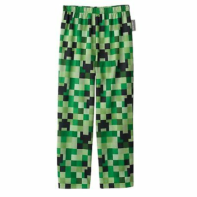 Minecraft Boys Creeper Pajama Pants Kids size M 6-8, XL 14-16 NEW