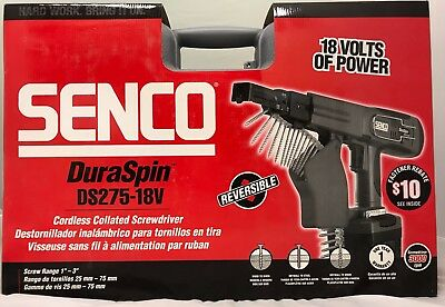 SENCO Duraspin Cordless Collated Screwdriver DS275-18V