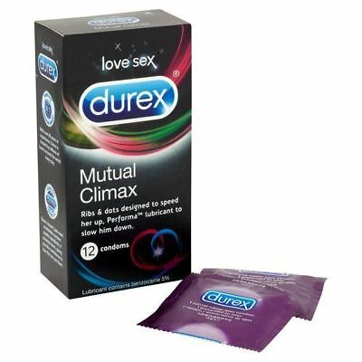 1 x Durex Mutual Climax Condoms ( Pack Of 12 ) Ribs and Dots with Performa Lube