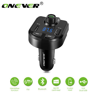 Bluetooth Wireless FM Transmitter Kit For Car MP3 Musik Player USB Ladegerät TF