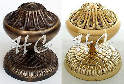 2 Sets of Antique Brass Victorian Door Knobs Vintage Brass Pull & Push Handles