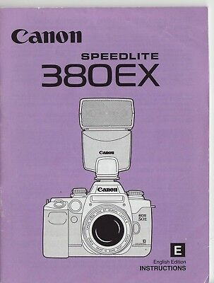 Canon 380EX Instruction Manual FREE SHIPPING!