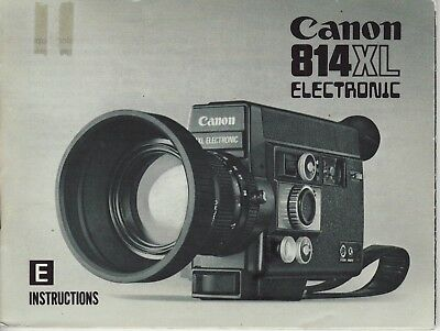 Canon 814XL Electronic Movie Camera Instruction Manual FREE SHIPPING!