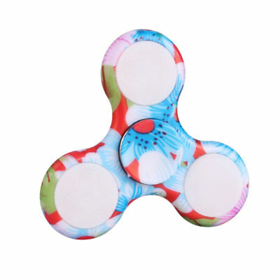 LED Light Blue Light Up Fidget EDC Stress Hand Spinner Finger Toys Gift