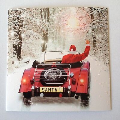Morgan Car Christmas Cards  with glitter finish - pack of 8