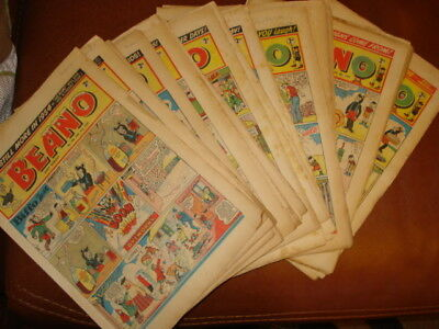Beano Comics 1954 Complete Year (bar one!) Excellent