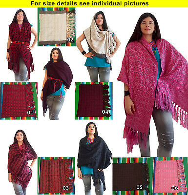 Authentic Mexican Shawl craft made traditional Chiapas
