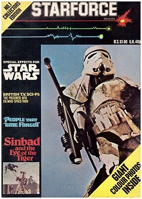 STARFORCE -POSTER/ MagazineNUMBER 1- Star Wars and U.K SCI-FI, Includes poster