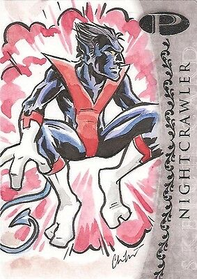 2012 Marvel Premier NIGHTCRAWLER sketch by Chris Kawagiwa