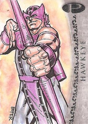 2012 Marvel Premier HAWKEYE sketch by Bienifer Flores