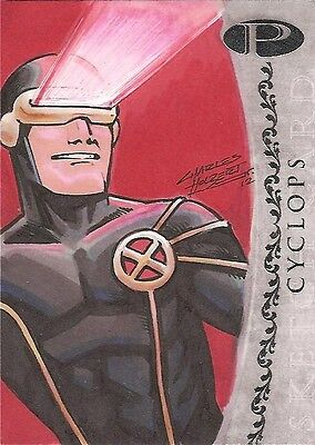 2012 Marvel Premier CYCLOPS sketch by Charles Holbert