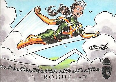 2012 Marvel Premier ROGUE sketch by Scott Cohn   RARE