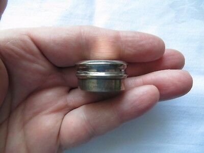 LOVELY SOLID SILVER ART DECO PILL BOX, G & C Ltd.BIRMINGHAM 1934 PERFECT!