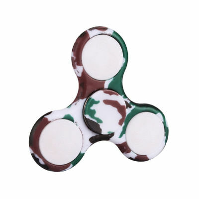 LED Flashing Light Up Fidget EDC Stress Hand Spinner Finger Toys Gift -GR&BK