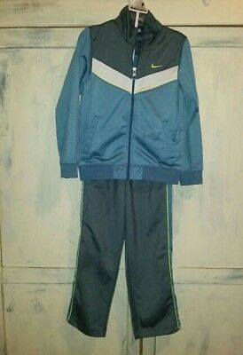 NIKE Boys Gray & Blue 2pc Zip Up Outfit Sz 7