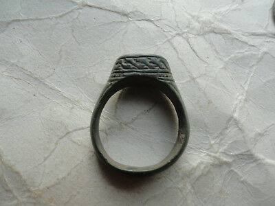 Ancient Roman Bronze Finger Ring Vf Condition