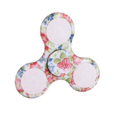 LED Light Up Fidget EDC Stress ADHD Hand Spinner Finger Toys Gift - Floral