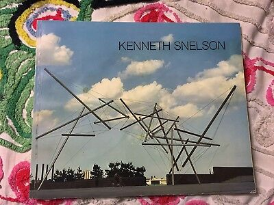 KENNETH SNELSON Art Exhibition Book 1981 Sculpture Photography