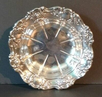 Vintage Towle Old Master E.P. Silverplate #4022 Candy/Nut Dish~Rose Pattern NICE