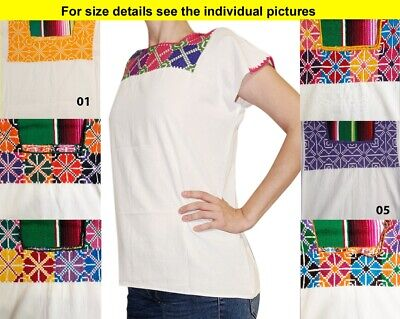 CHRISTMAS Authentic Handmade embroidered Mexican blouse Stretch Cross Stitch #2