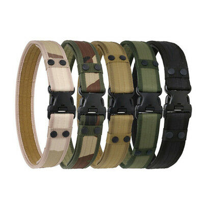 Tactical Belt Men's Military Belts Army Thicken Canvas Adjustable Waistband