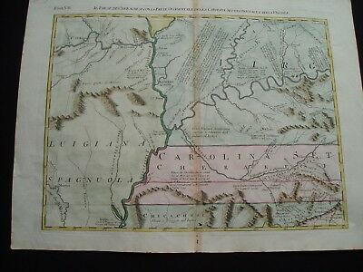 1778 Zatta Map Virginia Kentucky Tennessee Illinois Ohio Indiana Missouri