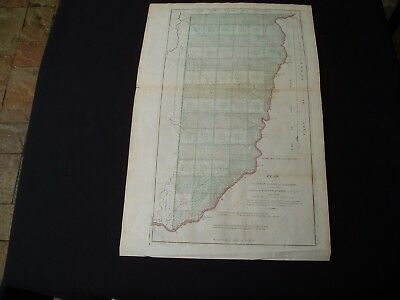 1814 Carey Hutchins Map Ohio Seven Ranges Iconic to US Geography and Surveying