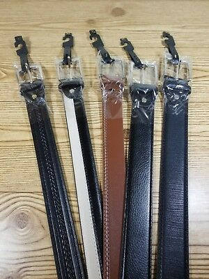 Mens Belts lot of 5 size 42-44 NEW GENUINE LEATHER #007