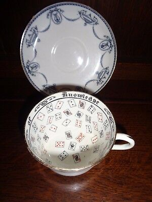 Ext Rare Jackson &gosling 1919 Gypsy  Fortune Telling Cup & Saucer Tasseography