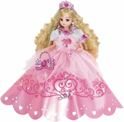 Takara TOMY Licca Doll Rika chan Doll Dreaming Princess Pink Jewelry from Japan