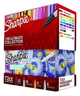 Sharpie Markers 72 Count Ultimate Pack Fine And Ultra Fine Point Assorted Colors
