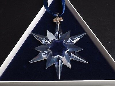 Swarovski Holiday Snowflake Ornament 1997 With Boxes And Certificate