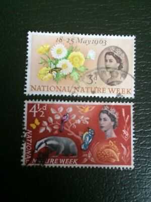 Great Britain 1963 'National Nature Week' SG637/638 Ordinary Used Set