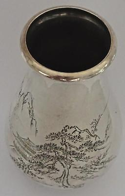 Superb Japanese Silver Vase