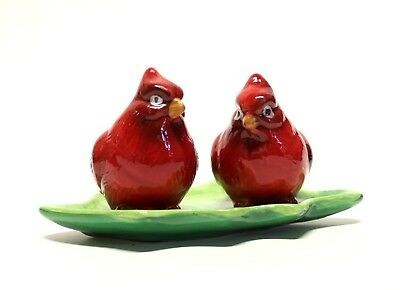 Dolomite Red Cardinal Birds Salt And Pepper Shakers Set Christmas Holiday Decor