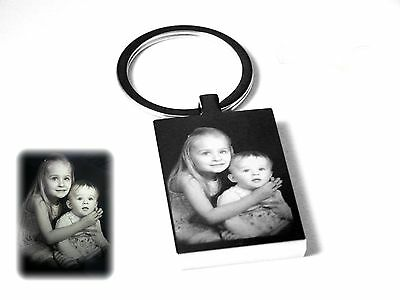 Personalised Photo Image &text Engraved Rectangle Key ring -Mothers DayGift